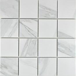 Mosaiikkilaatta Pukkila Carrara himmea karhea 73x73mm