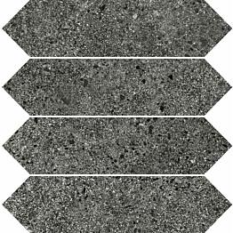Mosaiikkilaatta Pukkila Deep Pepper Losanghe himmea silea 30x7.5mm
