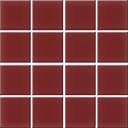 Mosaiikkilaatta Pukkila Nova Arquitectura Burgundy himmea silea 47x47mm