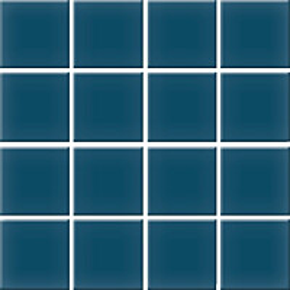 Mosaiikkilaatta Pukkila Nova Arquitectura Petrol Blue himmea silea 47x47mm