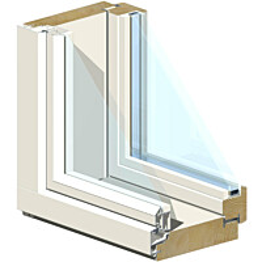 Puualumiini-ikkuna MSEAL MA 15x12