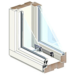 Puualumiini-ikkuna MSEAL MA 3x10 Ti