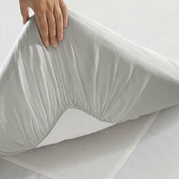 Lakana Twill muotoonommeltu 80x200 cm valkoinen
