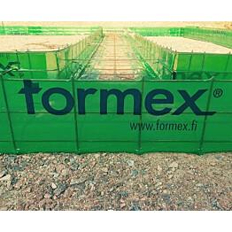Anturamuotti Formex jatkuva maanvarainen seinäantura 250x400x5000mm teräkset 3xT8