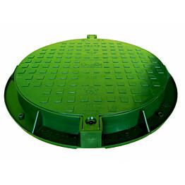 Muovinen kaivon kansi Ginmika D600, vihreä