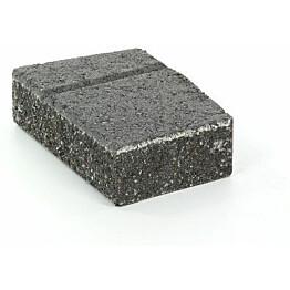 Muurikivi Rudus Muurikko kulmakivi 352x235x100 mm sileä musta