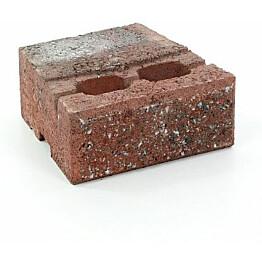 Muurikivi Rudus Muurikko peruskivi 235x235x100 mm sileä punamusta