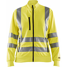 Naisten college Blåkläder Highvis 3308, vetoketjulla, huomio keltainen