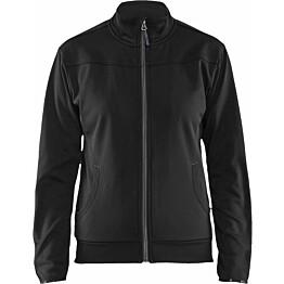Naisten pusero Blåkläder 3394, vetoketjulla, musta/tummanharmaa