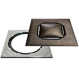 Neliökansi RST Vieser Design Bronze säädettävällä teräskehyksellä 197x197 mm