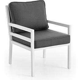 Nojatuoli Bergerac valkoinen/harmaa