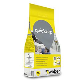 Nopea korjaus- ja täyttötasoite Weber QuickRep 5 kg