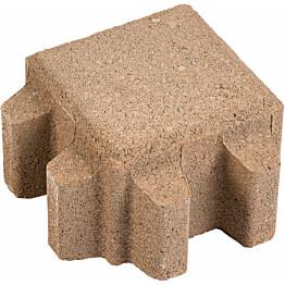 Nurmi-/hulevesikivi Grass 140x140x80 mm hiekanruskea