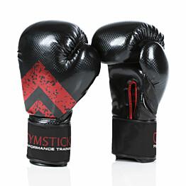 Nyrkkeilyhanskat Gymstick 14 oz tarrakiinnitys musta/punainen