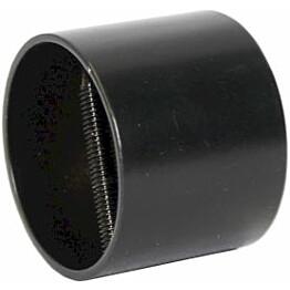 Päätytulppa Piippo Ø 36mm pulverimaalattu musta