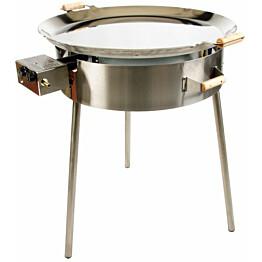 Paellasetti GrillSymbol PRO-720-INOX Ø 72 cm D-300 kaasupoltin säädinletkusetti teräs