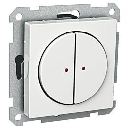 Painike 2-OS/400MA/12-24V valkoinen Exxact