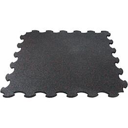 Palamatto Gymstick Interlocking Mat Pro Rubber 102,7 x 102,7 x 1,5 cm musta/punainen