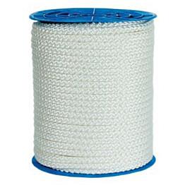 Polyesteriköysi palmikoitu 5mm valkea 1,7kg/100m