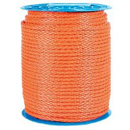 Polyeteeniköysi palmikoitu 8mm oranssi 2,80kg/100m