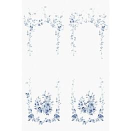 Paneelitapetti Sandberg Marieberg valkoinen/sininen 647-04, 1.8x2.7m, non-woven