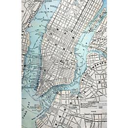 Paneelitapetti PhotowallXL Old Street Map NY 157702 1860x2790 mm