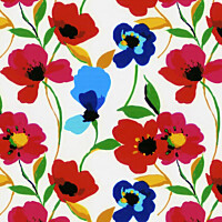 Paneelitapetti PhotoWallXL Poppies Multi 158007 2790x2790 mm
