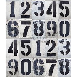 Paneelitapetti PhotowallXL Street Map Numbers 157710 2325x2790 mm