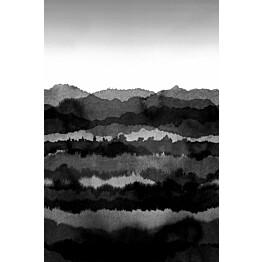 Paneelitapetti Sandberg Midnatt  tummanharmaa 1,8 mxkuvan korkeus 2,7 m non-woven