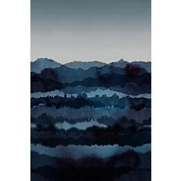 Paneelitapetti Sandberg Midnatt tummansininen 1,8 mxkuvan korkeus 2,7 m non-woven