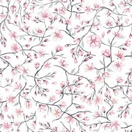 Paneelitapetti Sandberg Sakura sky vaaleanpunavalkoinen 1,35mx1,35m non-woven