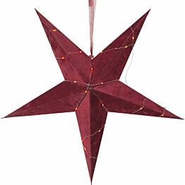 Paperitähti Star Trading Velvet Ø600x210mm punainen