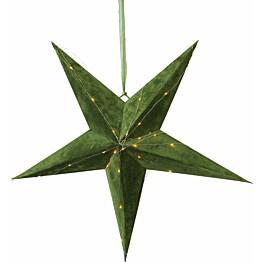 Paperitähti Star Trading Velvet Ø600x210mm vihreä