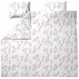 Parivuoteen pussilakanasetti Finlayson Kioto 240x210 cm valkoinen/pinkki