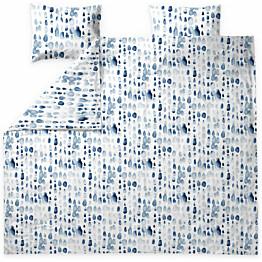 Parivuoteen satiinipussilakanasetti Finlayson Sula 240x220 cm valkoinen/sininen