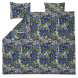 Parivuoteen pussilakanasetti Finlayson Huiske 240x210 cm musta/sininen