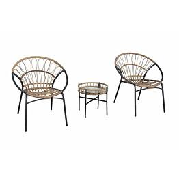 Parvekeryhmä Chic Garden Venetsia pyötä + 2 nojatuolia beige/grafiitti