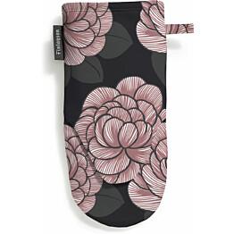 Patakinnas Finlayson Sylvi 15x30 cm musta/roosa