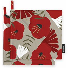 Patalappusetti Finlayson Anni 22x22 cm beige/punainen