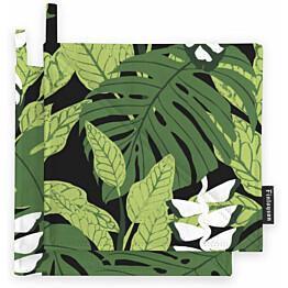 Patalappusetti Finlayson Bunaken 22x22 cm musta/vihreä