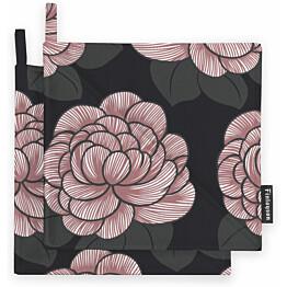 Patalappusetti Finlayson Sylvi 22x22 cm musta/roosa