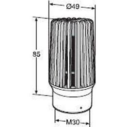 Patteriventtiilin termostaatti TA TRV 300 ilkivaltasuojattu