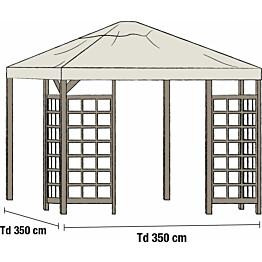 Paviljongin katto Hov 3.5x3.5m beige