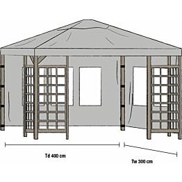 Paviljongin sivuverhot Hov 3x4m 2kpl harmaa