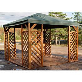 Lux-paviljonki A116R on kooltaan 400x400 cm