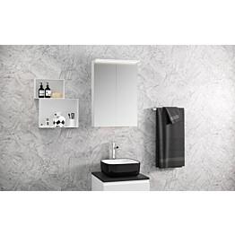 Peilikaappi Otsoson Luvia 50 LED-valolippa 500 x 725 x 225 mm valkoinen