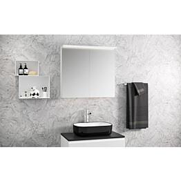 Peilikaappi Otsoson Luvia 80 LED-valolippa 800 x 725 x 225 mm valkoinen