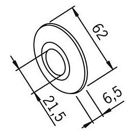 Peitelaippa Oras 102002 21,5x62 mm kromi