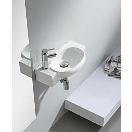 Pesuallas Interia Ave vasenkätinen valkoinen seinään kiinnitettävä 500 X 275 X 130 mm