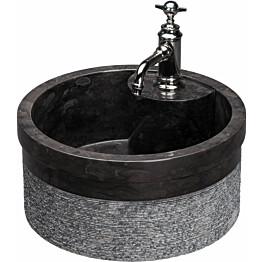 Pesuallas Qualitystone WB SOYAM Ø 450 mm andesiitti musta